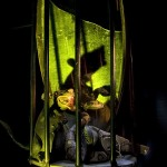Rubber Rat  :::::  Hanging diorama inside the Haunted House.