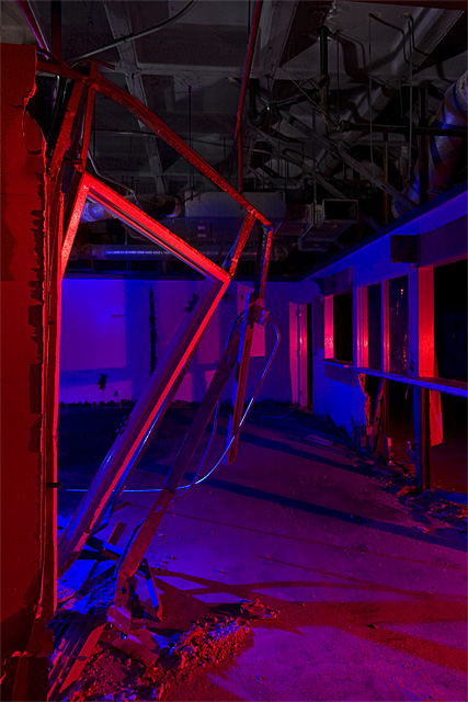 Scavenged Clinic  :::::  The lower floors were 100% dark.