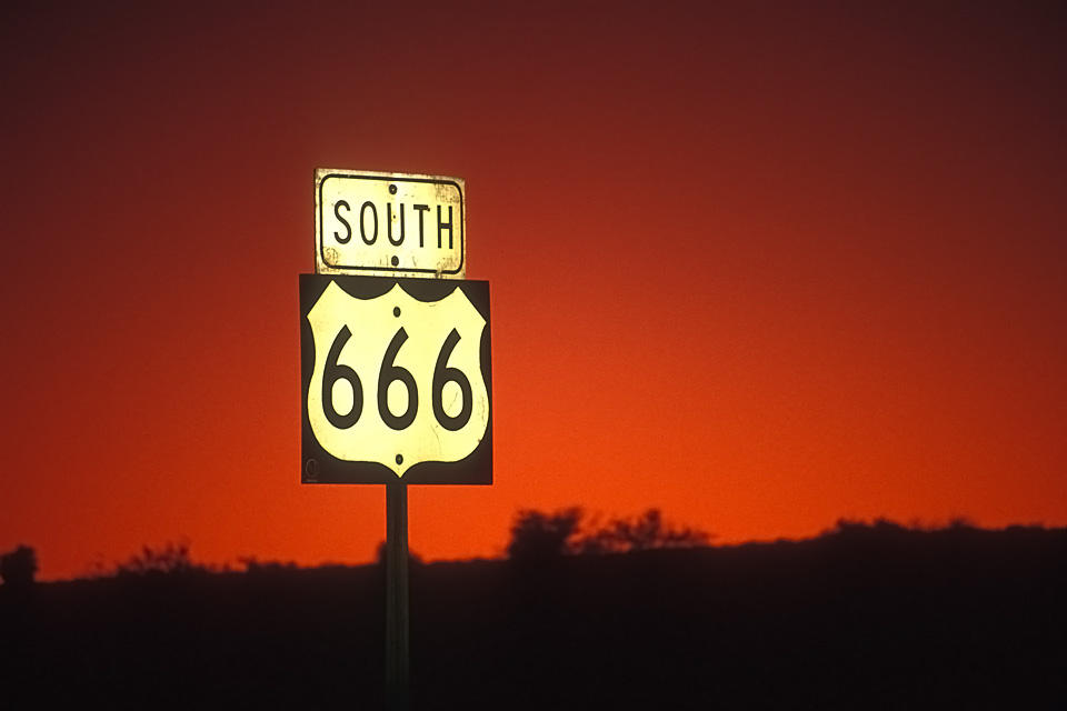 666  :::::  1992  ::::::  Film  :::::  Southern Arizona.  Changed to Highway 491 in 2003.
