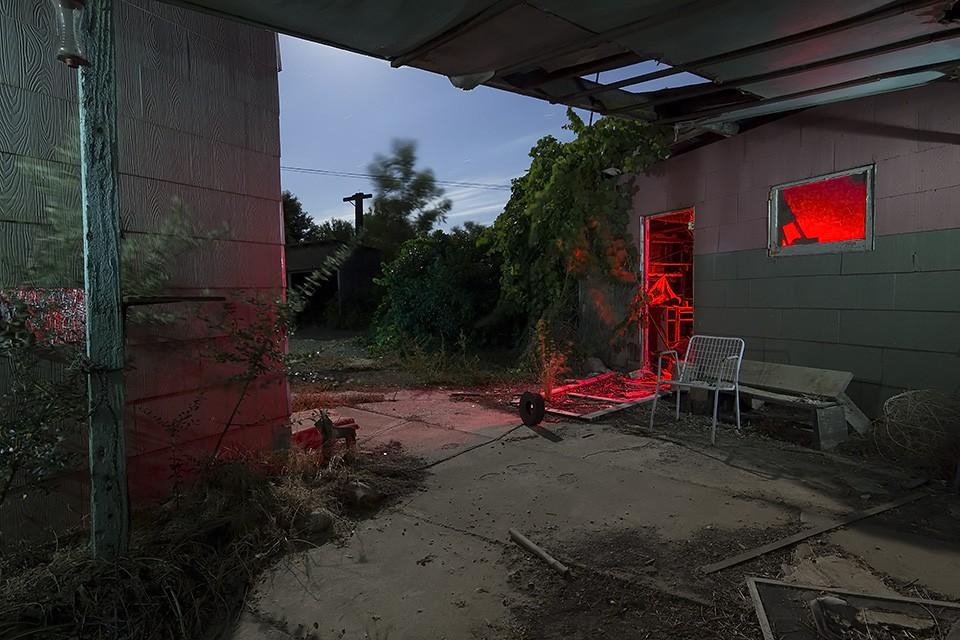 Her Haunted Patio :::::  2014  :::::  Abandoned Farm, San Joaquin Valley