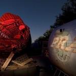 PRA  :::::  2006  :::::  A pair of movie prop aircraft in storage.