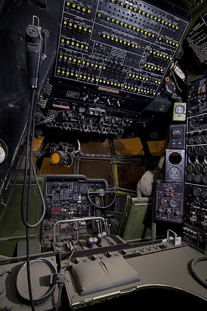 Flight Engineer  :::::  2007  :::::  The flight deck of a KC-97 Stratotanker coated with a layer of Mojave dust.