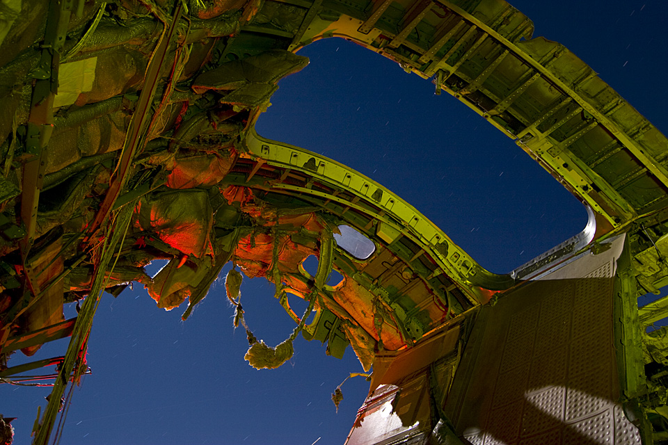 Orbital Decay  :::::  2009  :::::  A derelict Boeing 737 cabin section hurtles through space.