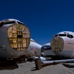 Jet Skulls  :::::  2009  :::::  Boeing and Lockheed airliner nose sections.