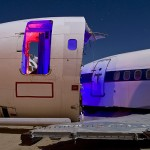 The Purple Vestibule  :::::  2009  :::::  Boeing 737 and 727 fuselage sections.