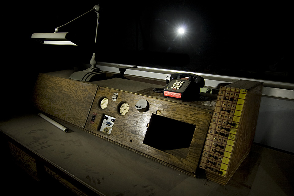 Wooden Console  :::::  Inside the surprisingly low tech War Room.