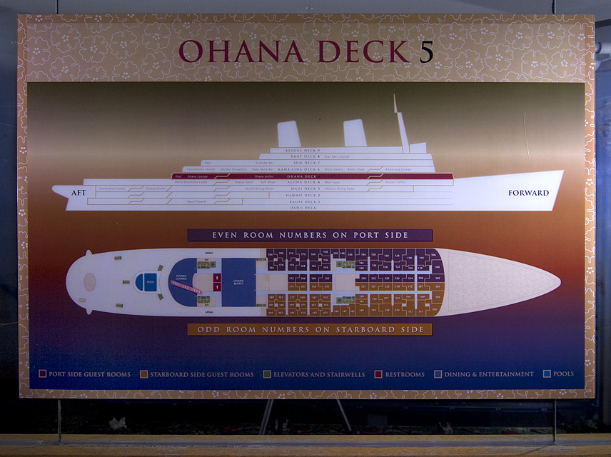Ohana Deck  :::::  It's easy to get lost in the ship's warrem of pitch black corridors.
