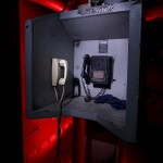 Hear Here  :::::  Soundproof telephone station in the impossibly dark engine room.