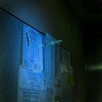 Bullseye  :::::  Bulletin board in the sick bay.