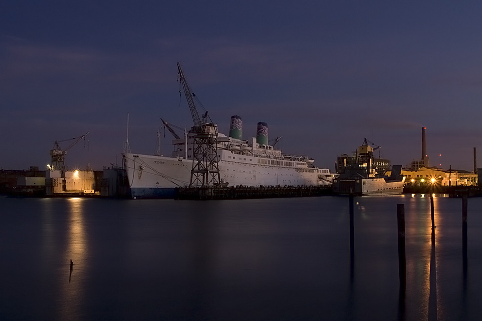 Magic Hour Indy  :::::  The beginning of her last night in port.  Any port.