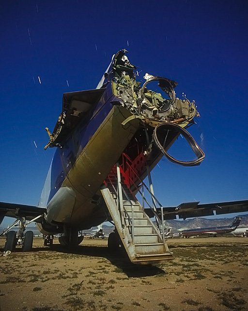 DB Cooper Stairs  :::::  2003  :::::  Smashed FedEx 727 tail section.