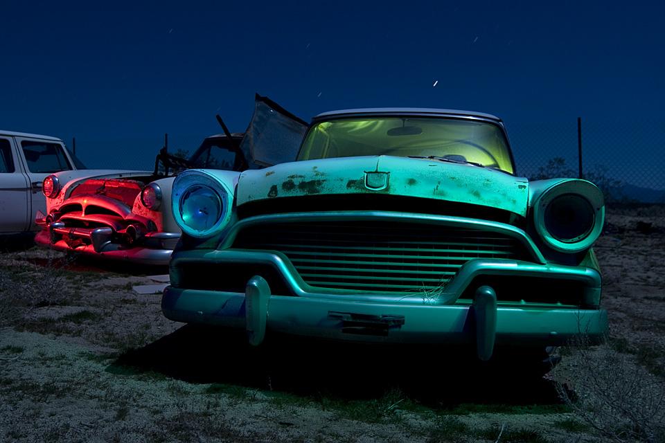 The One-Eyed President  :::::  1957 Studebaker President and 1954 Packard Clipper