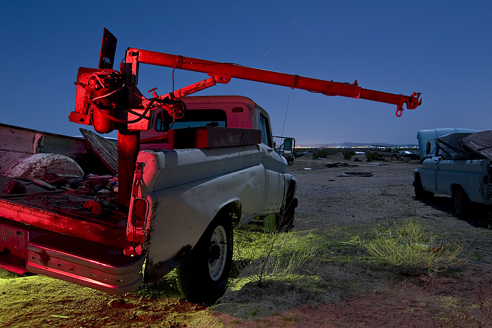 Lowering the Boom  :::::  Mid-'60s Chevy work truck