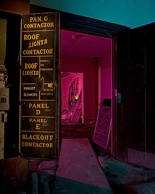 Pan G Contactor  :::::  Electrical panel in Top Secret Building 21.