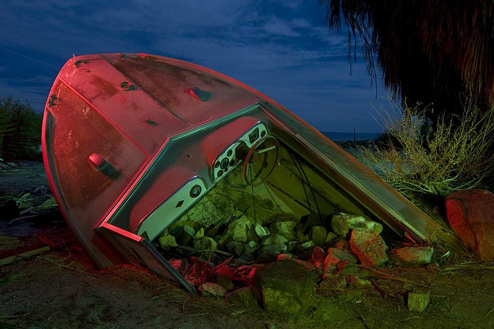 Ship Wreck :::::  2008  :::::  Salton Sea Beach.  Someone's yard ornament.