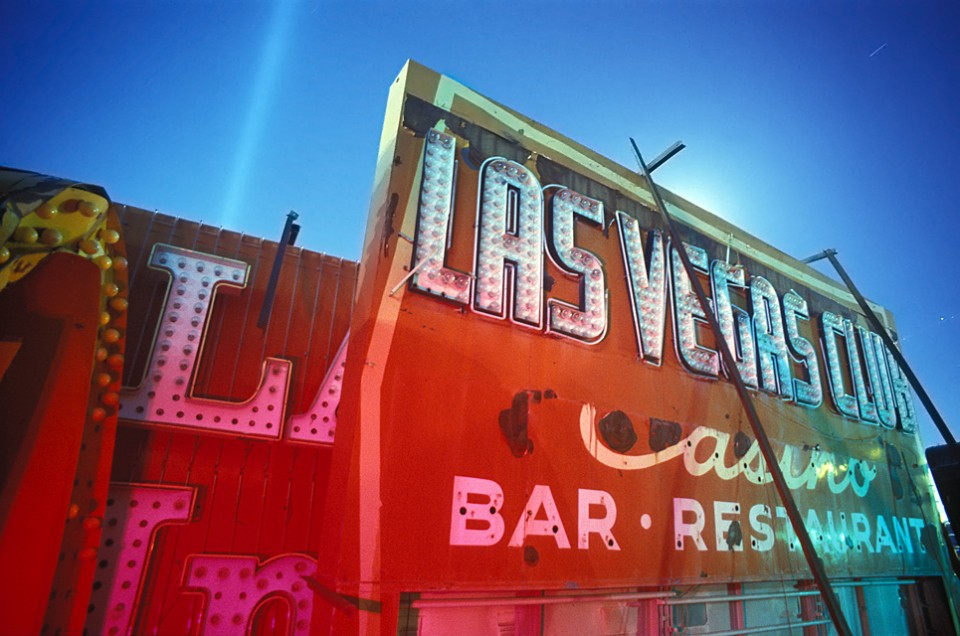 The Las Vegas Club  :::::  2000  ::::::  Film  :::::  YESCO Boneyard, Las Vegas, Nevada.