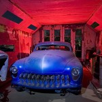 Blue in the Red Booth  :::::  The old paint booth holds a forgotten treasure.