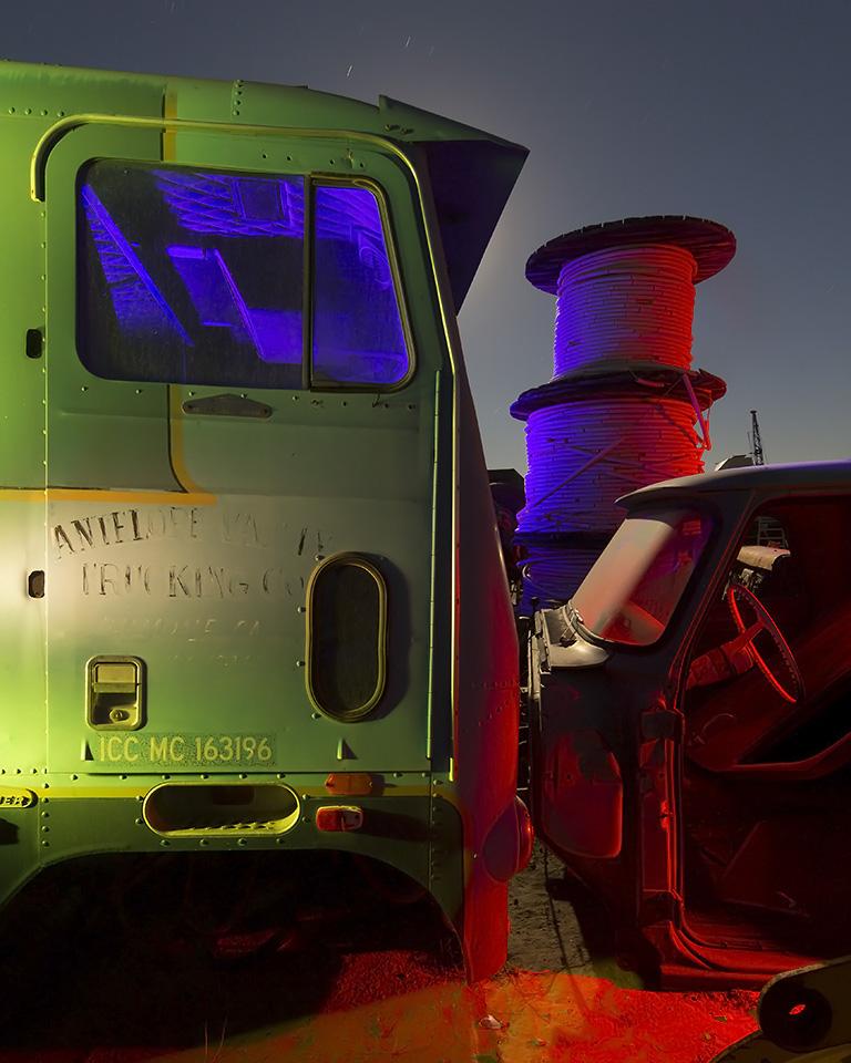 The Antelope Valley Fade  :::::  Circa 1970 White Freightliner  :::::  Paul's Junkyard