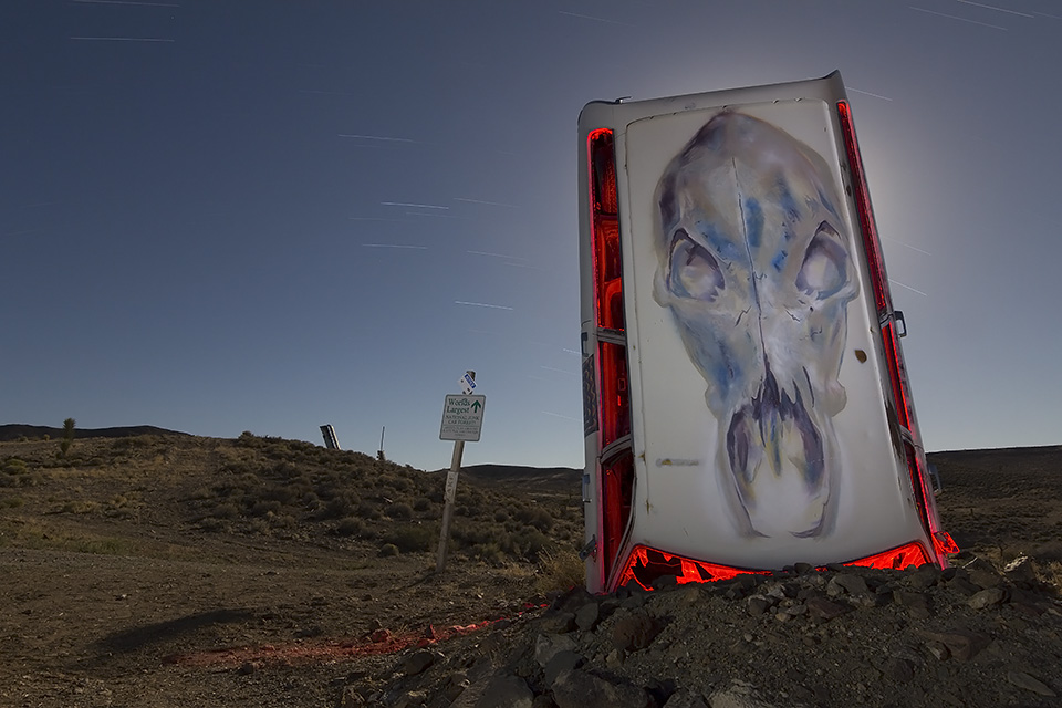 Guardian Skull  :::::  International Car Forest of the Last Church  :::::  Goldfield, Nevada