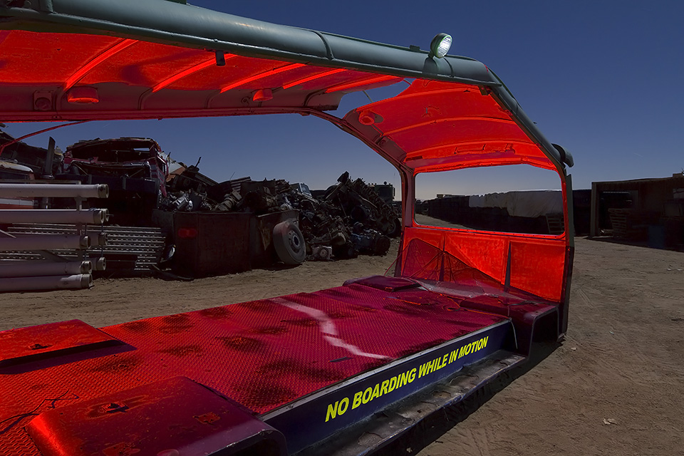 Junkyard Thrill Ride  :::::  Magic Mountain Parking Lot Tram