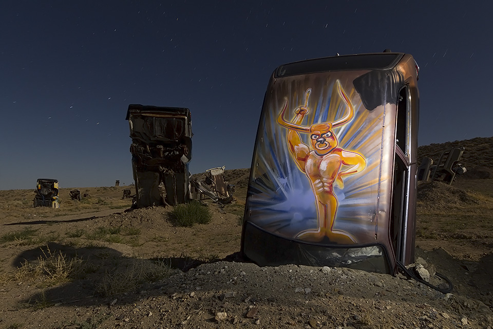 Minotard  :::::  International Car Forest of the Last Church  :::::  Goldfield, Nevada