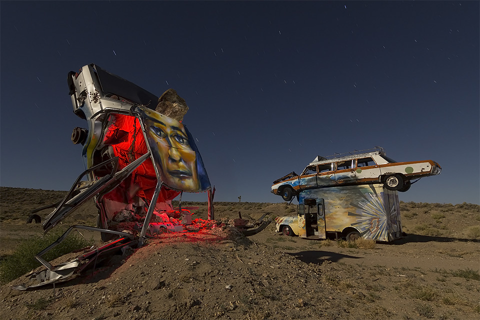 Highly Illogical  :::::  International Car Forest of the Last Church  :::::  Goldfield, Nevada