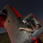 Riki Pops a Wheelie  :::::  International Car Forest of the Last Church  :::::  Goldfield, Nevada