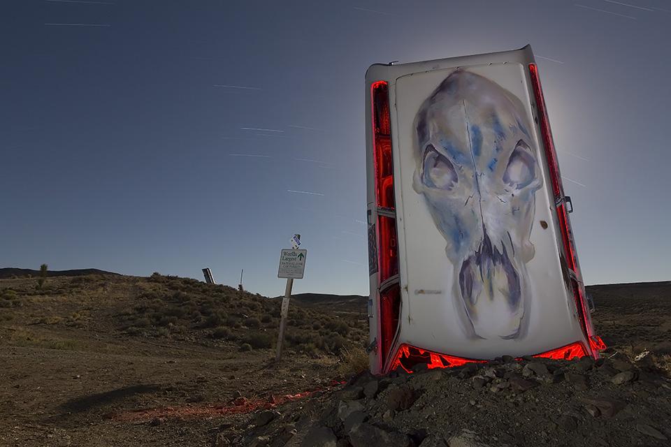 Guardian Skull  :::::  International Car Forest of the Last Church  :::::  Goldfield, Nevada