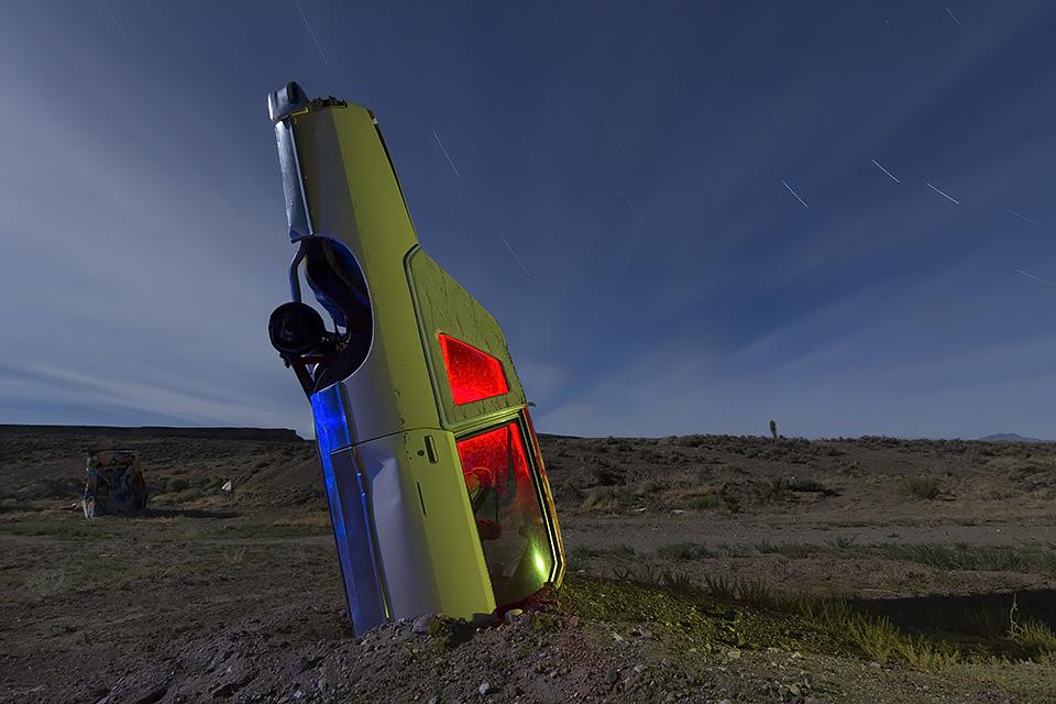 Detroit Stalacmite  :::::  International Car Forest of the Last Church  :::::  Goldfield, Nevada