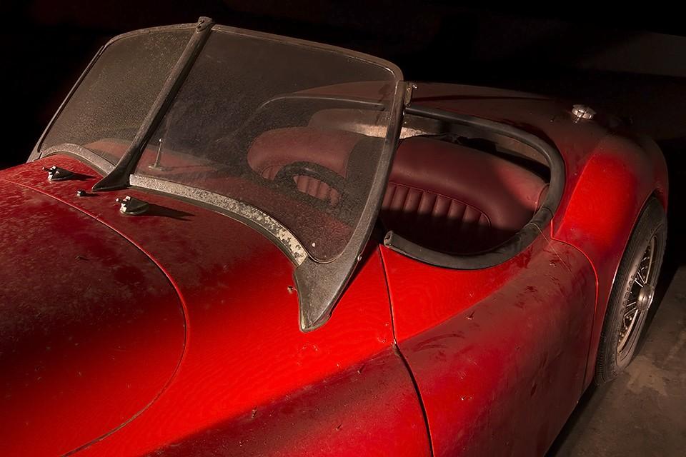 The Red Barchetta  :::::  Jaguar XK 100 (replica)